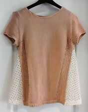 Anthropologie Moth Size S Small Crocheted Knit Sweater EXCELLENT EUC