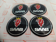 Saab 93 95 9-3 9-5 900 9000 Wheel Centre Cap Logo Sticker Badge 55mm Set 4 NEW