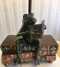 Toad/Frog Reading Book Table Lamp Light with Shade