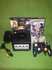 Black Nintendo Gamecube Console Controllers Games Bundle Job Lot Game Cube