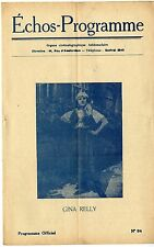 ECHOS-PROGRAMME n°94 GINA RELLY Mary Harald 1924