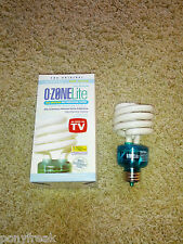 NEW Ozone Lite Air Purifier Light Bulb Eliminate Odors Smoke Kill Bacteria TIO2