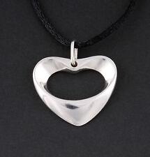 GEORG JENSEN Sterling Silver Artist Heart Pendant # 2008. New in box. KOPPEL.