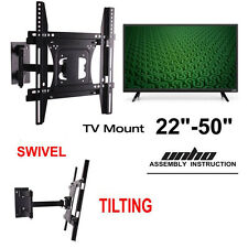 Full Motion TV Wall Mount Tilt Swivel 27-42 45 46 47 48 50inch for Samsung Vizio