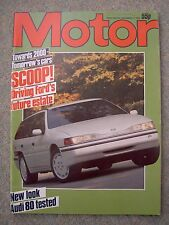 Motor (17 Nov 1984) Mercedes 190D,Audi 80, Ford RS200,Shogun, Saab 9000, Citroen