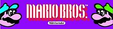 Mario Bros Arcade Marquee For Reproduction Header/Backlit Sign