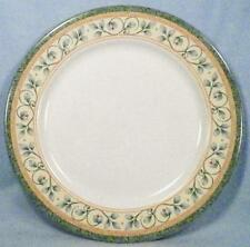 Pfaltzgraff French Quarter Dinner Plate Leaves Vines Stoneware Green Band EX