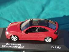 MERCEDES BENZ C CLASS KLASS SPORTS COUPE EVOLUTION MODEL CAR OFFICIAL