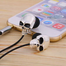 Cool Skull Heads 3.5mm Port Earphones Earbuds Headset For MP3 Phone iPads OY