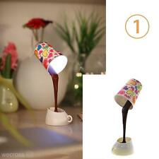 Cool Novelty Creative USB DIY 8 LED Coffee Cup Mug Lamp Home Desk Table Light