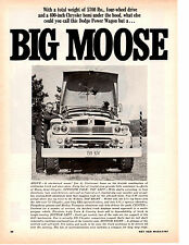 1966 DODGE POWER WAGON ~ ORIGINAL 2-PAGE ARTICLE / AD