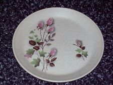 JOHNSON AUSTRALIA SIDE PLATE PINK ROSES GREEN FOLIAGE RETRO 17.5CM WIDE