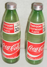 COCA COLA  BOTTLE LOT 2 AUTHENTIC EASY- GOER PAPER LABELS 32 oz  W/CAPS
