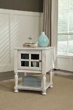 Ashley Furniture Chair Side End Table Cottage Accents White T505-102 Table NEW