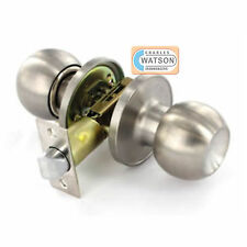 Stainless Steel PASSAGE KNOB SET Door Handle Latch Fixings