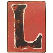 "9 1/2"" Rustic Iron Wall Letter - L. Rustic Vintage  Charm decor sign. Beautiful"