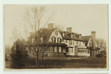 RPPC  Mansion of Mrs. E.H. Satterlee  Pittsford  NY   1910  - Rochester area