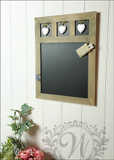 Shabby Chic Wall Hanging Blackboard Message Memo board Wooden Heart Chalk Small