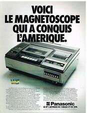 Publicité Advertising 1980 Le Magnetoscope Panasonic VHS