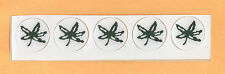 OHIO STATE BUCKEYES  OFFICIAL HELMET STICKERS - LEAVES / DECALS x 5 ORIGINAL