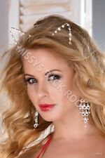 Women Cat Ears Headband Faux Pearls Hair Band Costume FREE SHIP