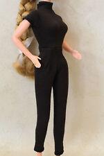 Barbie black catsuit retro clothes LE OOP fits Silkstone Classic jumpsuit pants