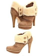 *NEW Ugg Georgette Platform HIGH HEEL Ankle shearling suede Boots sz 10 $300