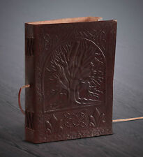 Handmade Leather Journal Diary Notebook Celtic Tree of Life Paggan Wicca