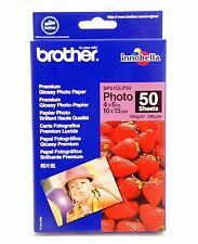 "Quality Brother Glossy Photo Paper. 10cm x 15cm (6""x4""). 190 gsm. 50 Sheet Pack."