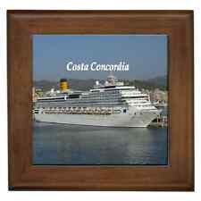 COSTA CONCORDIA PRINT CERAMIC FRAMED TILE - WALL DECO, SUPERB GIFT IDEA