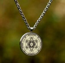 talisman Archangel METATRON SEAL hq stainless steel SET PENDANT + CHAIN Enochian