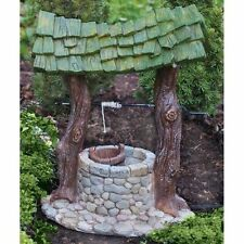 FIDDLEHEAD Fairy Garden Wishing Well Enchanted Miniature World Fairy House Home