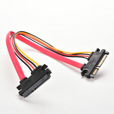 15+7 22 Pin ATA Male to Female M/F Data Power Extension Cable for SATA HDD GU