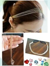 New! Cute Fashion Hair Accessory Multilayer Golden Chain Headband Hair Band
