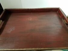 Primitive Stove Cover Noodle Board Hand Crafted Burgundy wood NEW
