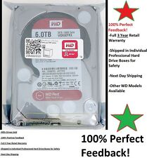 "WD RED WD60EFRX RED 6TB NAS 64MB cache SATA 6.0Gb/s 3.5"" Properly Shipped! NIB"