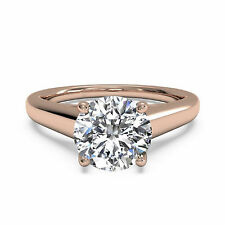 Fine 14kt Rose Gold Rings Diamond Wedding Engagement Ring 1.00Ct Diamond Rings