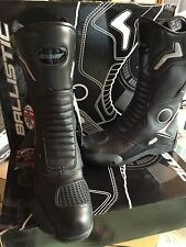 JOE ROCKET BALLISTIC TOURING  MOTORCYCLE LEATHER BOOTS MENS SIZE 7 US /6 UK
