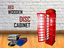 Red Wooden DVD CD BOOK Storage Cabinet Medium Home Decoration Telephone Phone