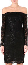 EMILIO PUCCI  Black Lace & Lamé Off Shoulder Dress IT 40  NWT $2.9K