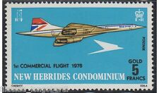 NEW HEBRIDES CONDOMINIUM stamps 1976 CONCORDE 5 gold francs YT.425 MNH -F443