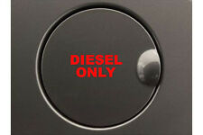 2 x Diesel Only Decal Red Vinyl Sticker For Fuel Cap Work Van Car