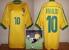 Brazil 1998 World Cup football shirt Rivaldo Adults L Barcelona France 98