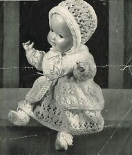 "Dolls clothes knitting pattern for 14""-16"" doll.  Laminated  copy. (V Doll 67)"