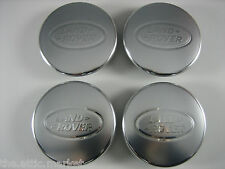 Land Range Rover Polished / Matte Silver Wheel Center Caps Genuine Set of 4 NEW