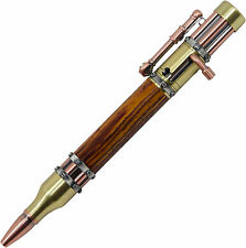Steampunk Bolt Action Pen with Cocobolo Wood - Free Shipping in USA