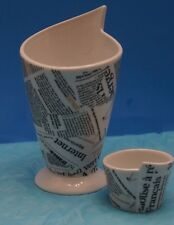 Maxwell Williams Maxwell & Williams WBA Newsprint French Fries & Sauce Cups