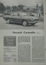 1965 Renault Carvelle Original Autocar magazine road test