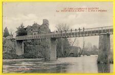 cpa FENEYROLS (Tarn et Garonne) Le PONT et le CHÂTEAU de Capduelh Ecrite en 1917