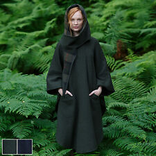 100% Pure Irish New Wool Green Walking Cape By Jimmy Hourihan